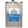 Elmer's No-Wrinkle Rubber Cement - 1 gal - 1 Each - Silver