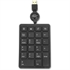 Compucessory USB Plug/Play Keypad - Cable Connectivity - USB Interface - Dark Gray