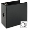 "Sparco Deluxe Slant Ring View Binders - 5"" Binder Capacity - Letter - 8 1/2"" x 11"" Sheet Size - 3 x D-Ring Fastener(s) - 2 Internal Pocket(s) - Vinyl, Polypropylene - Black - 1 Each"