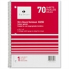 "Sparco Quality Wirebound 1-Subject Notebook - 70 Sheets - Printed - Wire Bound - 16 lb Basis Weight 8"" x 10.50"" - Assorted Paper - Assorted Cover - Chipboard Cover - 1Each"