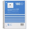 """Sparco Quality Wirebound 5-Subject Notebook - 180 Sheets - Printed - Wire Bound 8"""" x 10.50"""" - Assorted Paper - Assorted Cover - Chipboard Cover - 1Each"""