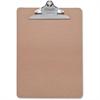 "Sparco Clipboard - 9"" x 12.50"" - Hardboard - Brown"