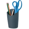 "Fellowes Partition Additions™ Pencil Cup - 5.6"" x 3.5"" x 2.2"" - Plastic - 1 Each - Dark Graphite"
