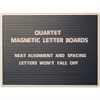 "Quartet® Magnetic Letter Board Sign - 18"" Height x 24"" Width - Black Surface - Gray Frame - 1 / Each"