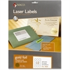 """MACO Laser Gold Foil Notarial & Certificate Labels - Round - 2.50"""" Diameter - Self-adhesive, Permanent - Gold"""