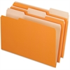 "Pendaflex Interior File Folder - Legal - 8 1/2"" x 14"" Sheet Size - 1/3 Tab Cut - Orange - 100 / Box"