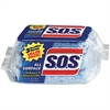 "S.O.S All Surface Scrubber Sponge - 4.5"" Height x 2.5"" Width x 0.9"" Depth - 3/Pack - Blue"