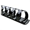 "Swingline CombBind Binding Spines - 0.63"" Maximum Capacity - 130 x Sheet Capacity - For Letter 8.50"" x 11"" Sheet - 19 x Rings - Black - PVC Plastic - 100 / Box"