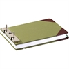 "Canvas Sectional Storage Post Binder - 5 1/2"" x 8 1/2"" Sheet Size - 3"" Expansion - Post Fastener - Canvas - Green - 1 Each"