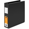 "Wilson Jones® Heavy Duty Round Ring Binder w/ Extra Durable Hinge - 2"" Binder Capacity - Letter - 8 1/2"" x 11"" Sheet Size - 500 Sheet Capacity - Round Ring Fastener - 2 Internal Pocket(s) - Black"