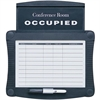 "Quartet Conference Room Scheduler - 1 Each - Occupied Print/Message - 15.5"" Width x 14.3"" Height - Rectangular Shape - Melamine - Black, White"