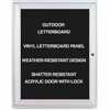 "Ghent Aluminum Frame Indoor Enclosed Letterboard - 24"" Height x 36"" Width - Silver Aluminum Frame - 1 Each"