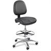 "Safco True Comfort Economy Workfit Stool - Vinyl Black Seat - 5-star Base - Black - 20"" Seat Width x 19"" Seat Depth - 26"" Width x 26"" Depth x 52.5"" Height"