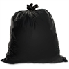 "Genuine Joe Heavy Duty Trash Bag - Medium Size - 30 gal - 30"" Width x 36"" Length x 1.50 mil (38 Micron) Thickness - Low Density - Black - 100/Box"