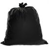 "Genuine Joe Heavy Duty Trash Bag - Medium Size - 33 gal - 33"" Width x 40"" Length x 1.50 mil (38 Micron) Thickness - Low Density - Black - 100/Box"