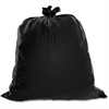 "Heavy-Duty Trash Bag - Large Size - 45 gal - 39"" Width x 46"" Length x 1.50 mil (38 Micron) Thickness - Low Density - Black - 50/Box"
