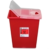 "Covidien Kendall Sharp Container with Rotor - 8 gal Capacity - 17.5"" Height x 15.5"" Width x 11"" Depth - Red"