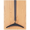 Quartet Over-the-Door Hook - 2 Hooks - for Garment - Steel - Black - 1 Each