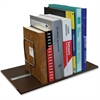"Adjustable Support Book Rack - 6.5"" Height x 17"" Width x 8.6"" Depth - 3 Compartment(s) - Metal - Brown"""