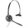 Plantronics DuoSet H141N Headset - Black - Wired - Over-the-ear, Over-the-head - Monaural - 3 ft Cable - Electret, Noise Cancelling Microphone