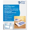 "Elite Image Laser/Inkjet Name Badge Label - 2.33"" Width x 3.38"" Length - 8 / Sheet - Rectangle - Laser, Inkjet - White, Blue - 400 / Box"