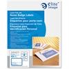 "Elite Image Laser/Inkjet Name Badge Label - 2.33"" Width x 3.38"" Length - 8 / Sheet - Rectangle - Laser, Inkjet - White, Blue - 400 / Box"