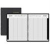 "At-A-Glance 8-Person Daily Group Appointment Book - Julian - Daily - 1 Year - January 2018 till December 2018 - 7:00 AM to 7:00 PM - 1 Day Double Page Layout - 8.50"" x 11"" - Black - Leather"