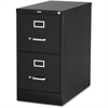 "Lorell Vertical file - 15"" x 26.5"" x 28.4"" - 2 x Drawer(s) for File - Letter - Vertical - Security Lock, Ball-bearing Suspension, Heavy Duty - Black - Steel - Recycled"