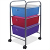 "Advantus 3-Drawer Organizer - 15.5"" x 13"" x 27"" - 3 x Drawer(s) - Locking Casters, Security Lock - Multicolor - Metal"
