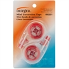 "Integra Resist Tear Correction Tape - 0.20"" Width x 16.40 ft Length - Tear Resistant - 2 / Pack - Smoke Dispenser"