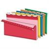 "Ready-Tab Extra Capacity Reinforced Hanging Folder with Lift Tab - 2"" Folder Capacity - Legal - 8 1/2"" x 14"" Sheet Size - 2"" Expansion - 1/5 Tab Cut - Pressboard - Assorted - 20 / Box"
