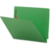 "Sparco Colored End Tab Fastener Folder - Letter - 8 1/2"" x 11"" Sheet Size - 2 Fastener(s) - Green - Recycled - 50 / Box"
