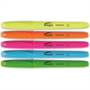 Integra Pen Style Fluorescent Highlighter - Chisel Point Style - Assorted - 5 / Set