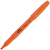 Integra Pen Style Fluorescent Highlighter - Chisel Point Style - Fluorescent Orange - 1 Dozen
