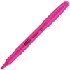 Integra Pen Style Fluorescent Highlighter - Chisel Point Style - Fluorescent Pink - 1 Dozen