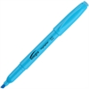 Integra Pen Style Fluorescent Highlighter - Chisel Point Style - Fluorescent Blue - 1 Dozen