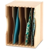 "Safco Wood Stackable Sorter - 5 Compartment(s) - 4 Divider(s) - 9.5"" Height x 12.8"" Width x 9.3"" Depth - Desktop - Light Oak - Wood - 1Each"