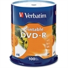 Verbatim DVD-R 4.7GB 16X White Inkjet Printable - 100pk Spindle - TAA Compliant - DVD-R 16X White Inkjet Printable - 4.70 GB - 100pk Spindle