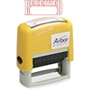 """SKILCRAFT Pre-inked """"Received"""" Message Stamp - Message Stamp - """"Received"""" - 1.63"""" Impression Width x 0.50"""" Impression Length - 50000 Impression(s) - Red - 1 Each"""