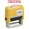 "SKILCRAFT Pre-inked ""Confidential"" Stamp - Message Stamp - ""CONFIDENTIAL"" - 1.63"" Impression Width x 0.50"" Impression Length - 50000 Impression(s) - Red - 1 Each"