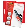 "Fellowes Glossy Pouches - ID Tag punched, 5 mil, 100 pack - Laminating Pouch/Sheet Size: 3.88"" Width x 2.63"" Length x 5 mil Thickness - for Document, ID Badge, ID Card - Durable, Pre-punched - Clear -"