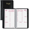 "Brownline Weekly Appointment Book - Julian - Weekly, Daily - 1 Year - January 2017 till December 2017 - 7:00 AM to 6:00 PM - 1 Week Double Page Layout - 3.50"" x 6"" - Twin Wire - Desktop - Black - Phon"