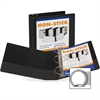 "Samsill Nonstick Insertable Round Ring Binders - 4"" Binder Capacity - Letter - 8 1/2"" x 11"" Sheet Size - 700 Sheet Capacity - Round Ring Fastener - 2 Internal Pocket(s) - Polypropylene - Black - Recyc"