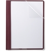 "TOPS Linen Finish Clear Front Report Covers - Letter - 8 1/2"" x 11"" Sheet Size - 85 Sheet Capacity - 3 x Double Tang Fastener(s) - 1/2"" Fastener Capacity for Folder - Linen - Burgundy - 25 / Box"