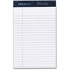 "TOPS Docket Diamond, Premium Stationery Tablet, White, 50 Sheet/Pad, 4 Pad/Box - 50 Sheets - Printed - Double Stitched - 24 lb Basis Weight - Jr.Legal 5"" x 8"" - White Paper - 4 / Box"