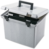 "Pendaflex Portable File Box - External Dimensions: 14"" Width x 11.1"" Depth x 11"" Height - Granite - For File - 1 Each"