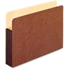 "Pendaflex Redrope WaterShed Expanding File Pockets - Letter - 8 1/2"" x 11"" Sheet Size - 1050 Sheet Capacity - 5 1/4"" Expansion - Straight Tab Cut - Redrope - Red Fiber - 10 / Box"