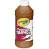 Crayola Premier Tempera Paint - 16 oz - 1 Each - Brown
