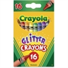"Crayola Crayola Glitter Crayon - 3.6"" Length - 0.3"" Diameter - Assorted - 1 / Set"