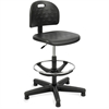 "Safco Soft Tough Economy Workbench Drafting Chair - Foam Black, Polyurethane Seat - Foam Back - 5-star Base - Black - 18"" Seat Width x 16.50"" Seat Depth - 25"" Width x 25"" Depth x 49"" Height"